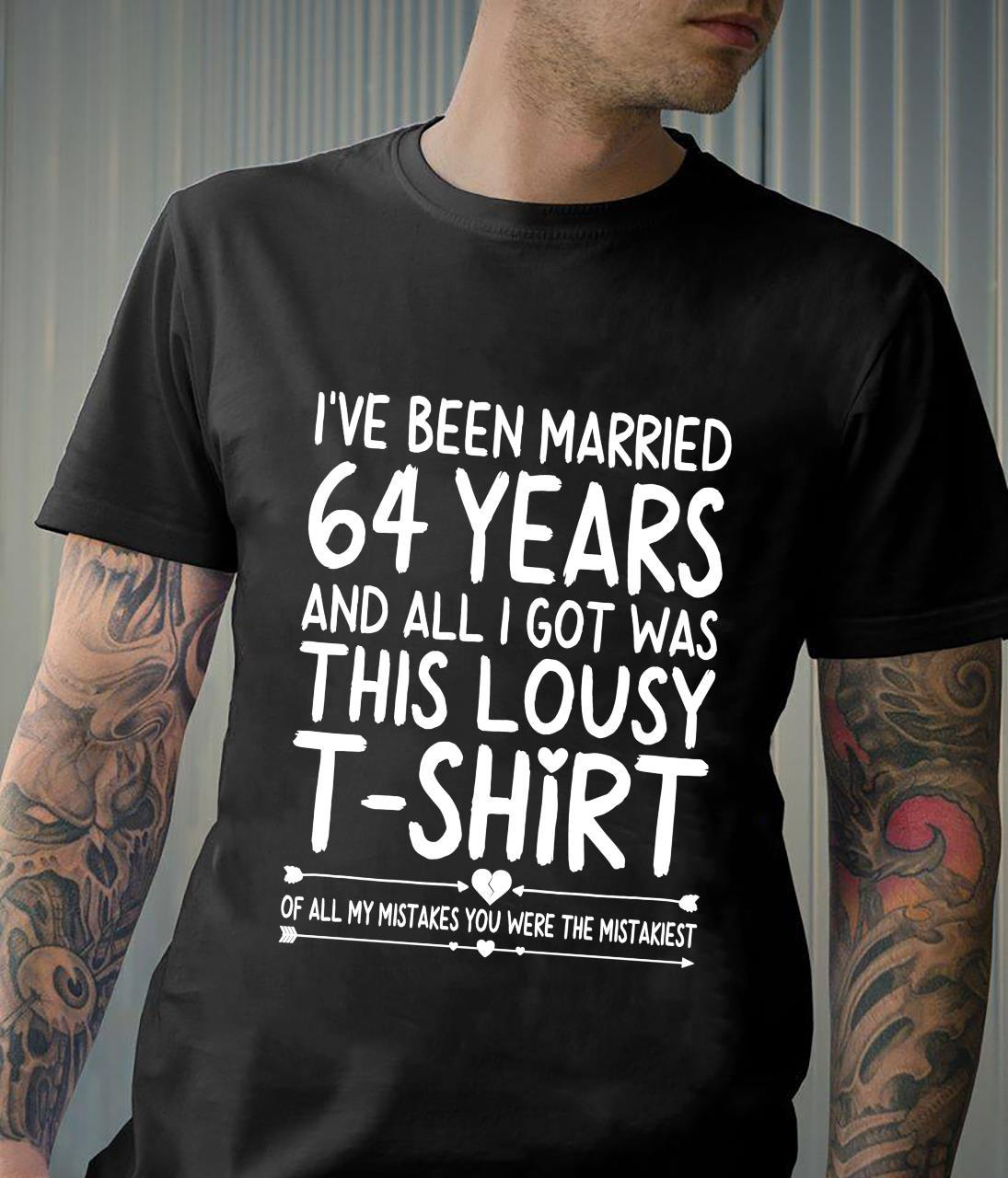 64th Wedding Anniversary for Her & Him 64 Years of Marriage Shirt