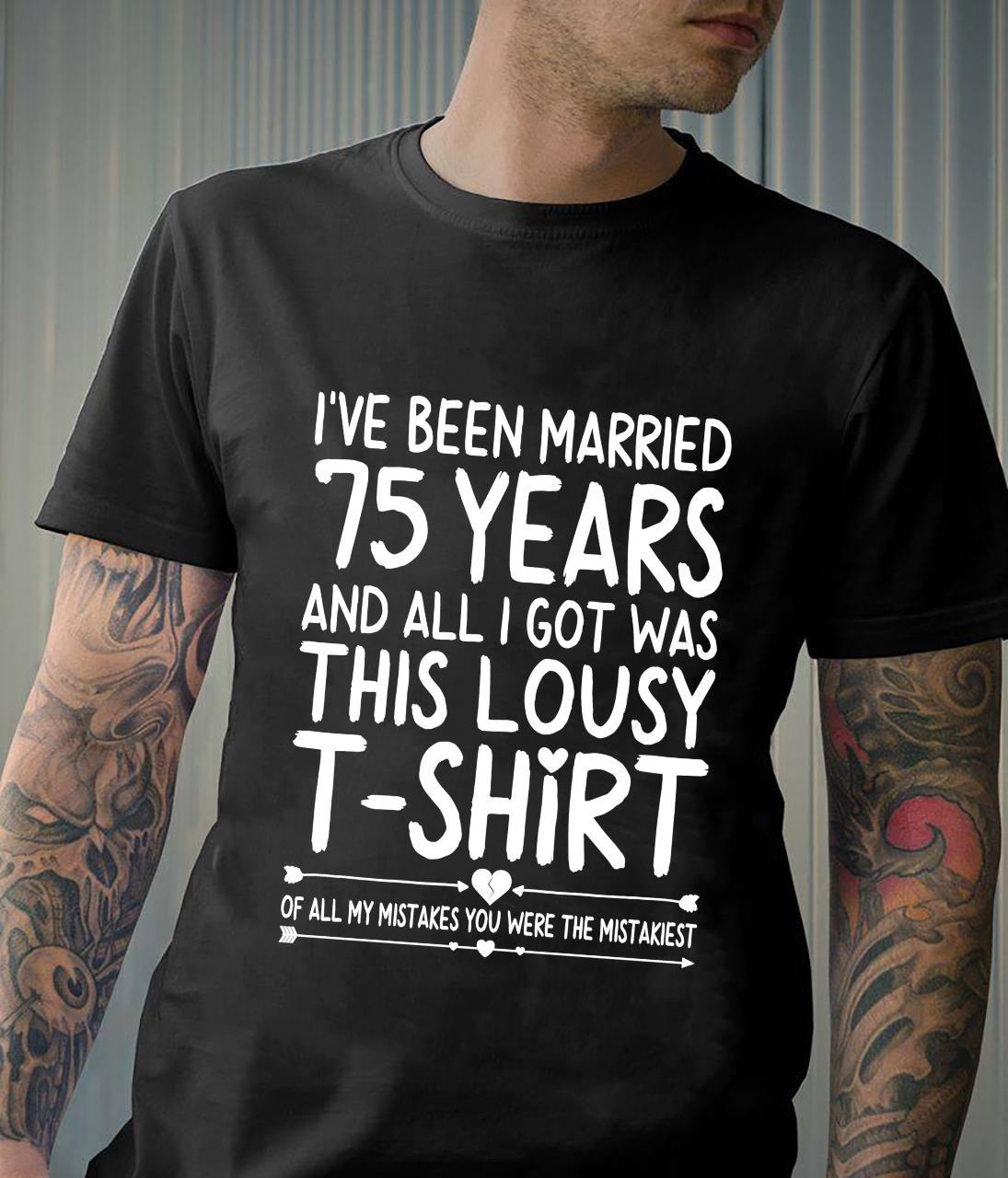 75th Wedding Anniversary for Her & Wife 75 Years of Marriage Shirt
