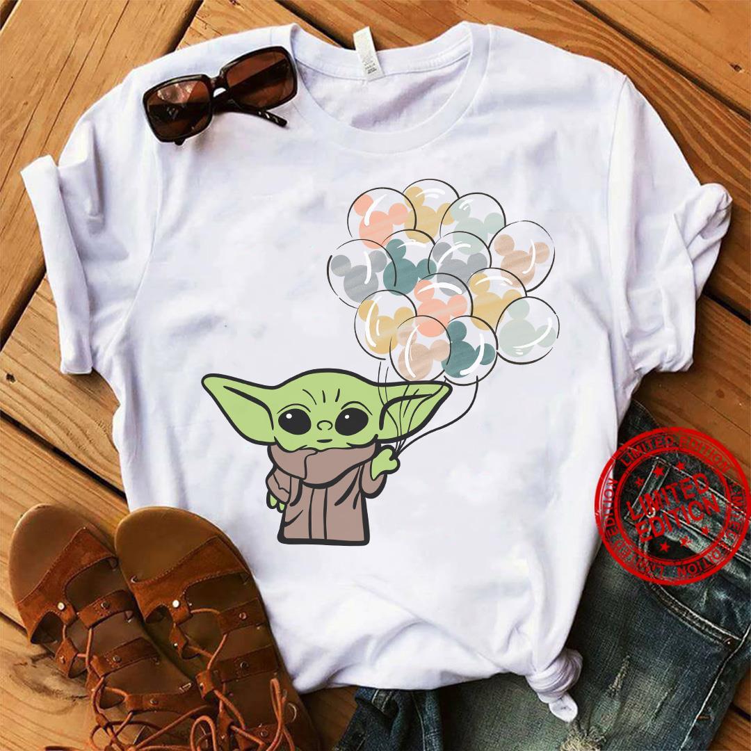 Baby Yoda With Balloons Shirt
