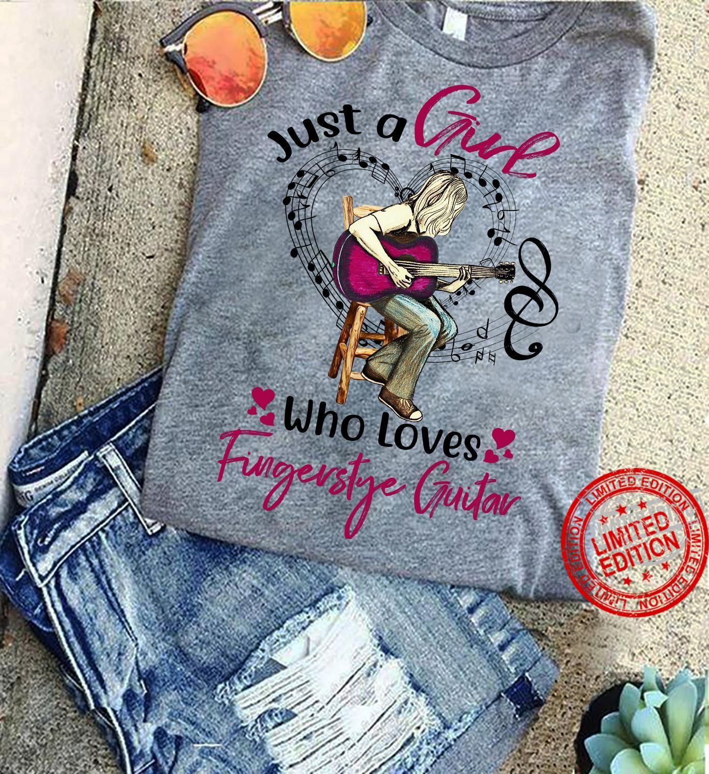 Just A Girl Who Loves Fingerstyle Guitar Shirt