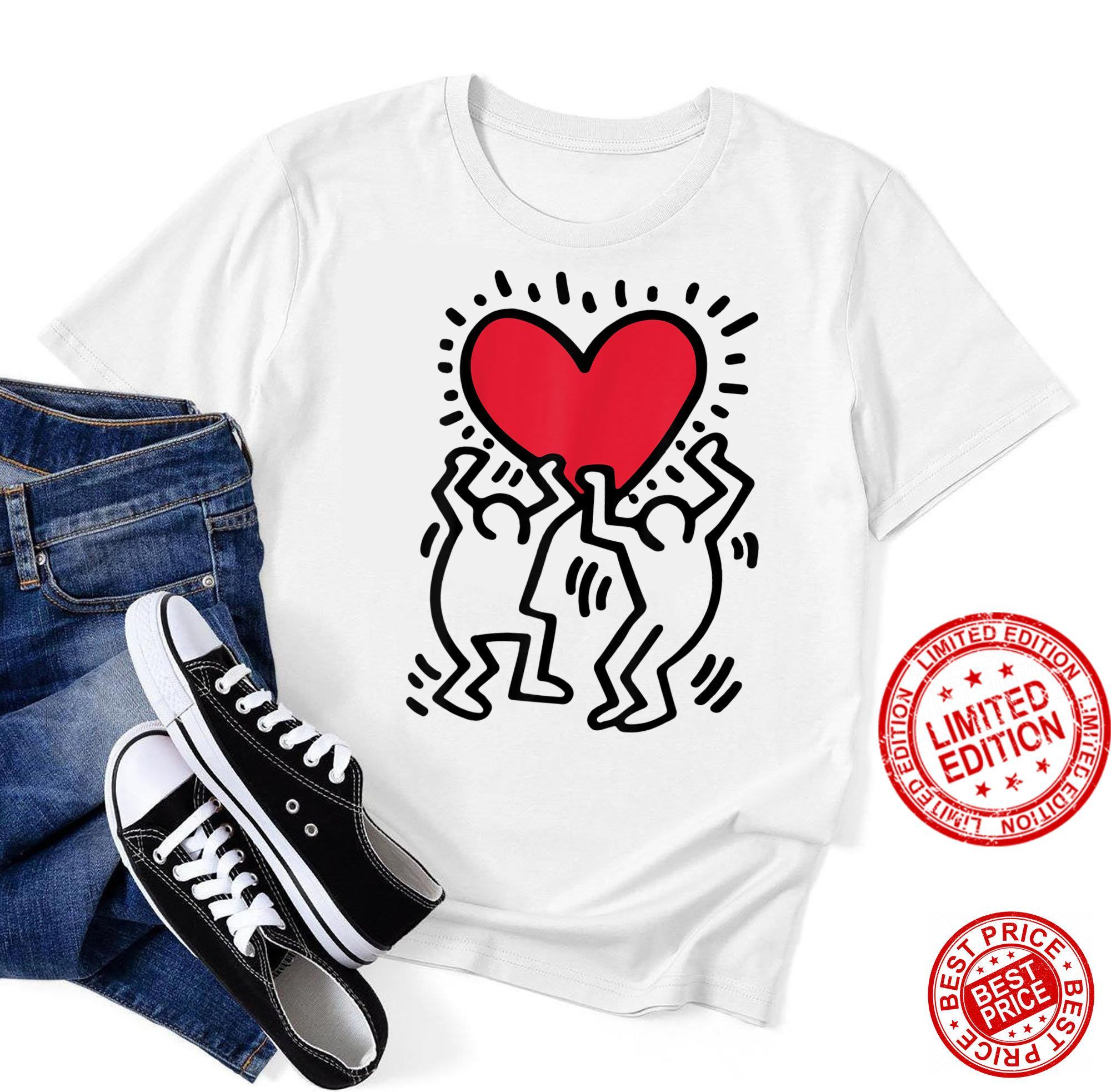 Keiths Harings Keiths Harings Heart Retro American Shirt
