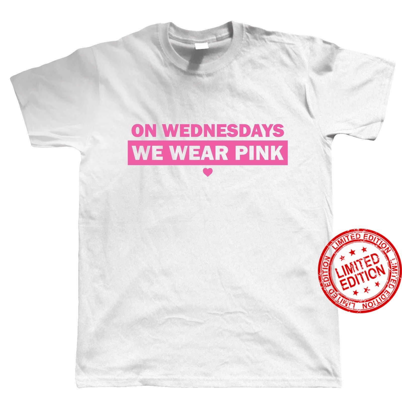 On Wednesdays We Wear Pink Mens - Mean Girls Chick Flicks Movie Shirt