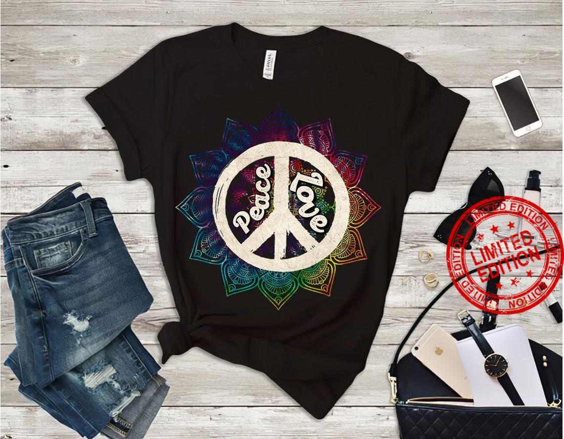Peace Love Floral Peace Shirt