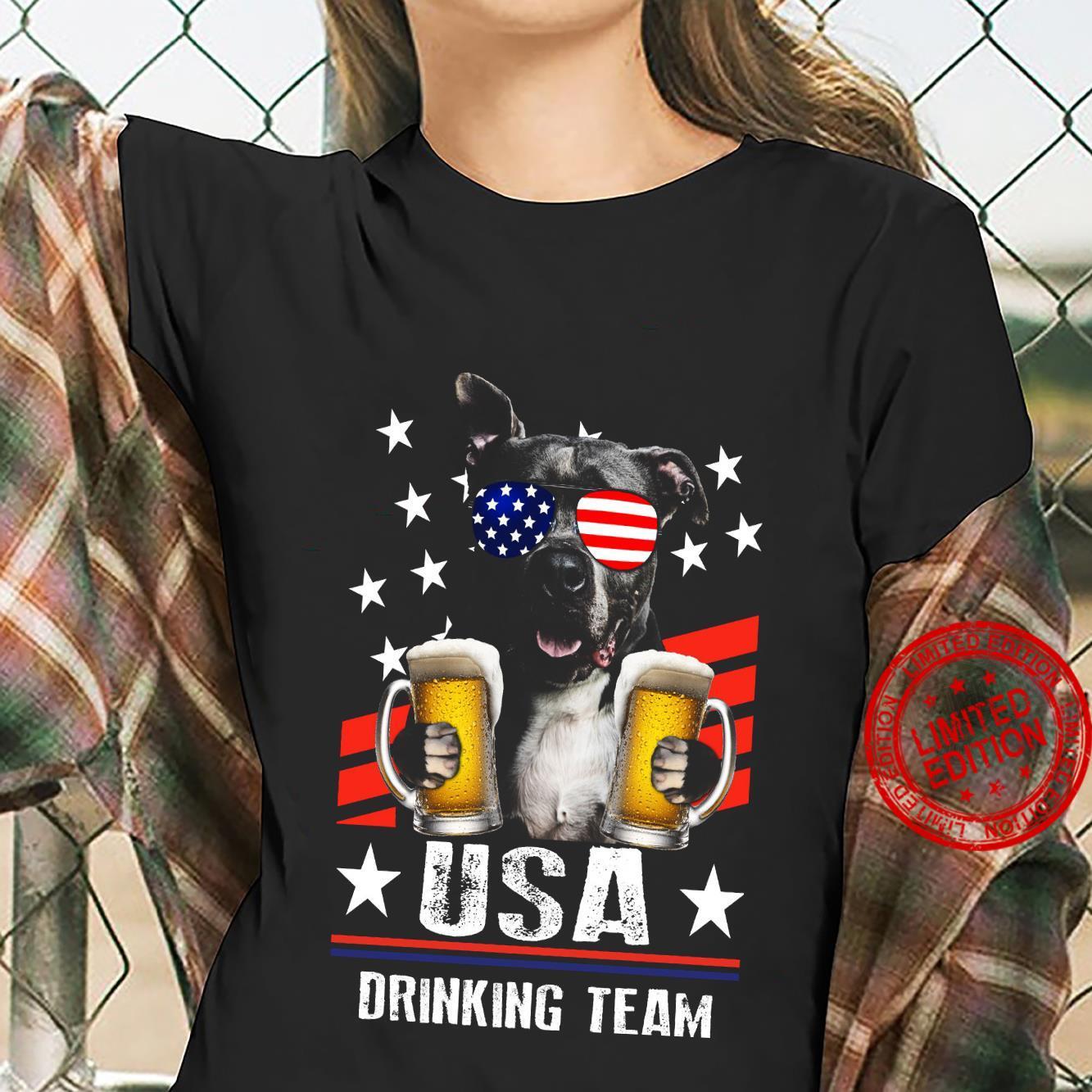 Pitbull USA Drinking Team Shirt ladies tee