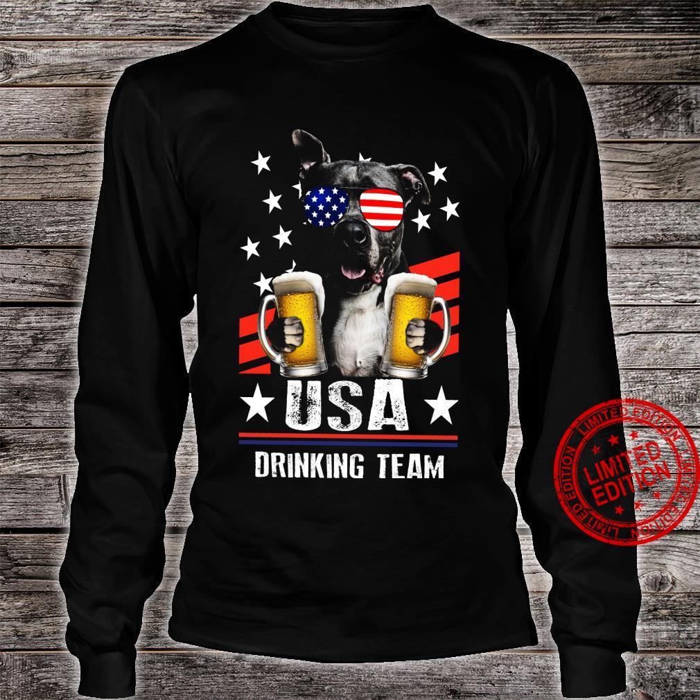 Pitbull USA Drinking Team Shirt long sleeved