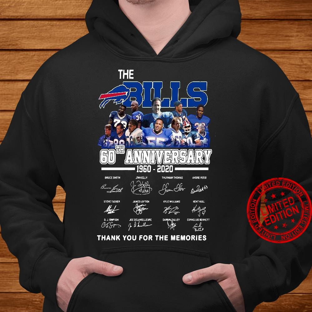 The Bills 60th Anniversary 1960-2020 Thank You For The Memories Shirt hoodie