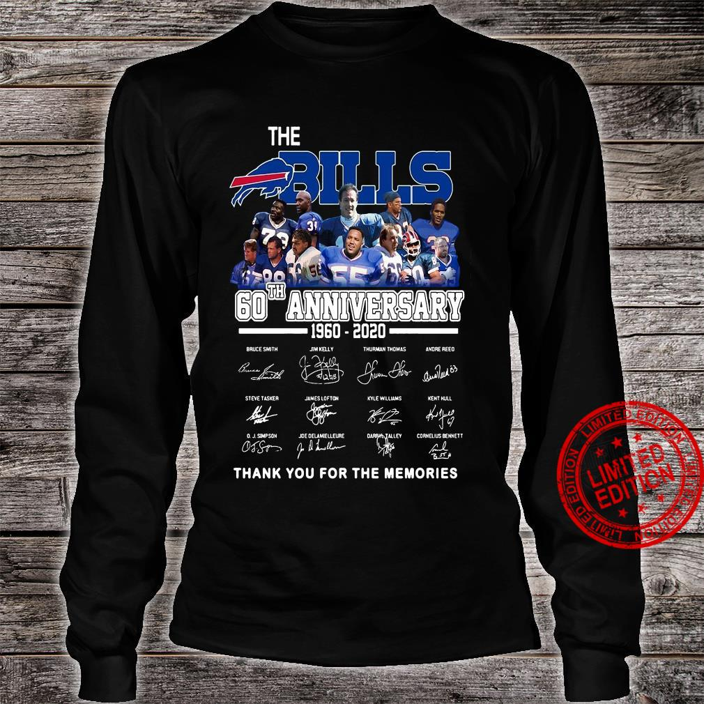 The Bills 60th Anniversary 1960-2020 Thank You For The Memories Shirt long sleeved