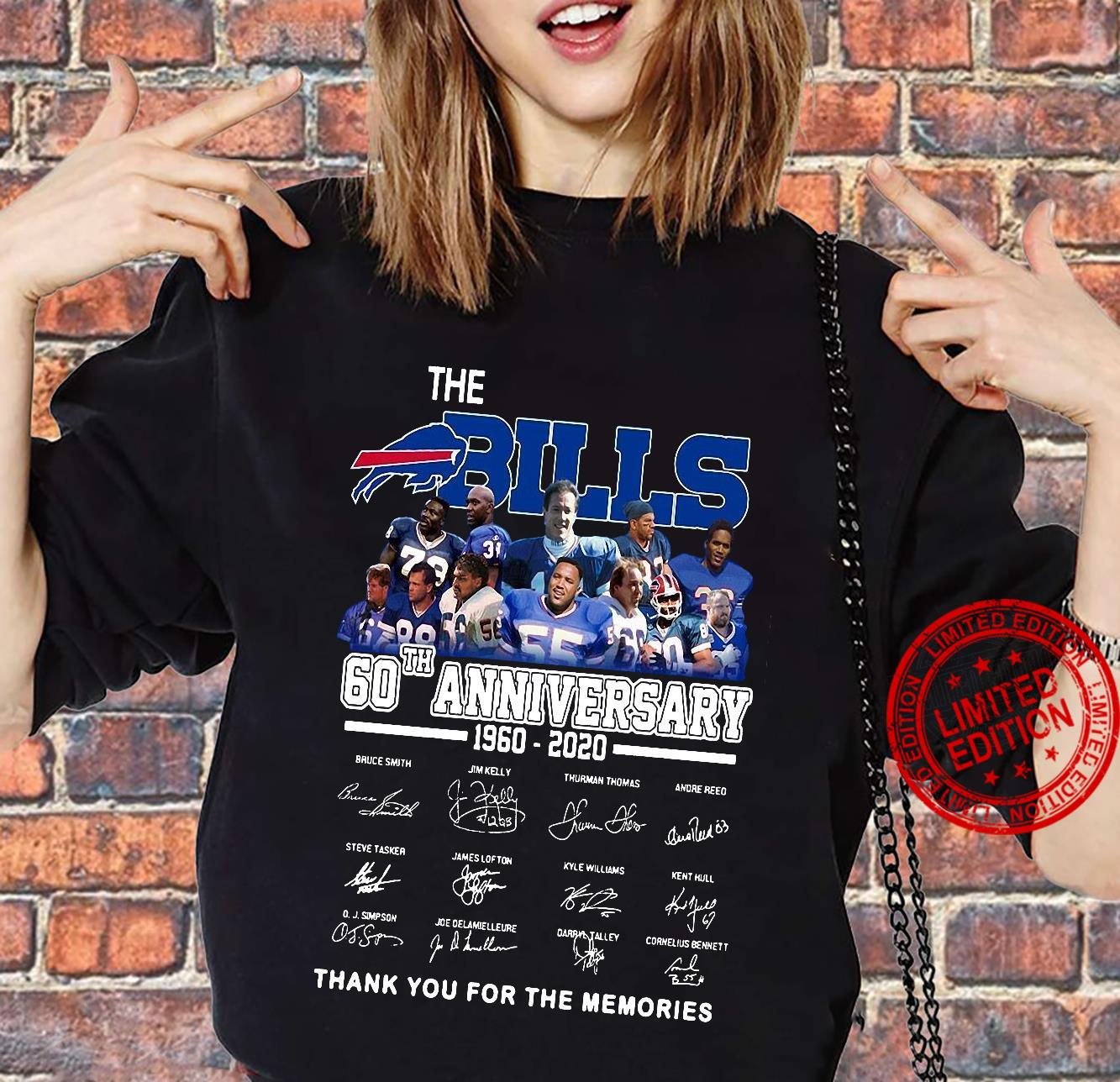 The Bills 60th Anniversary 1960-2020 Thank You For The Memories Shirt sweater