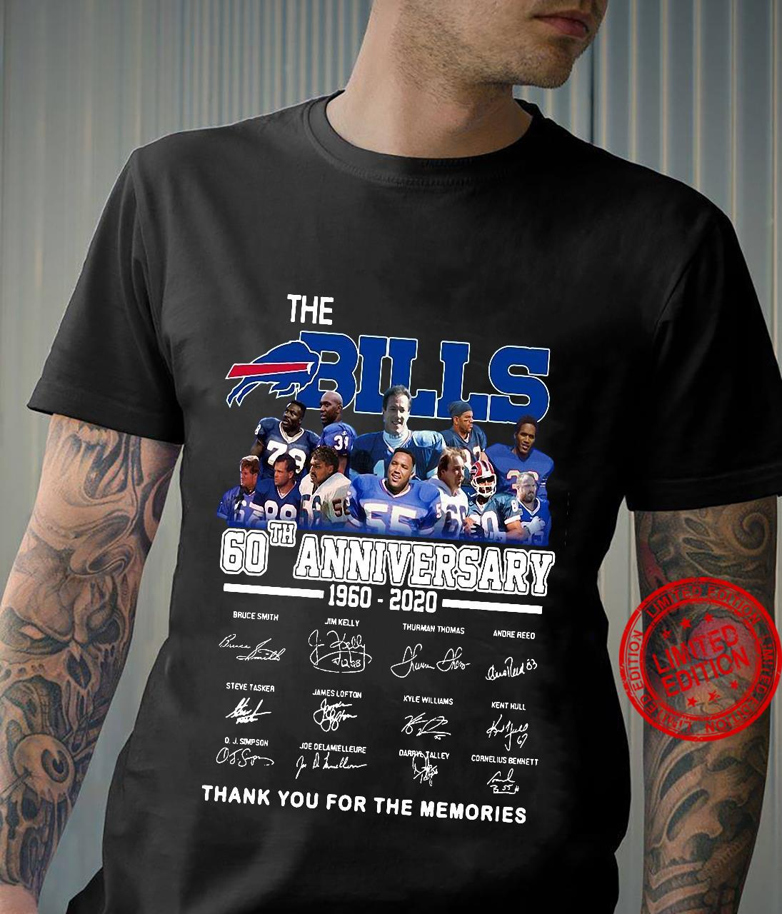 The Bills 60th Anniversary 1960-2020 Thank You For The Memories Shirt