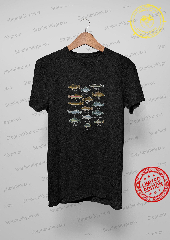 Types Of Freshwater Fish Species Fishing Shirt