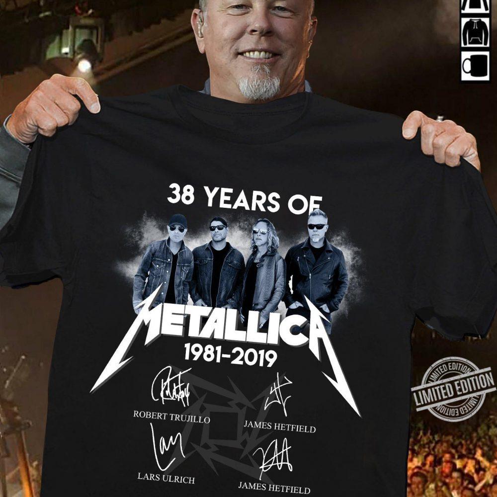38 Years Of Metallica Signatures Shirt