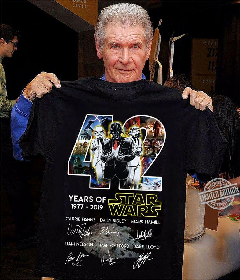 42 Years Of Star Wars 1977 - 2019 Signatures Shirt