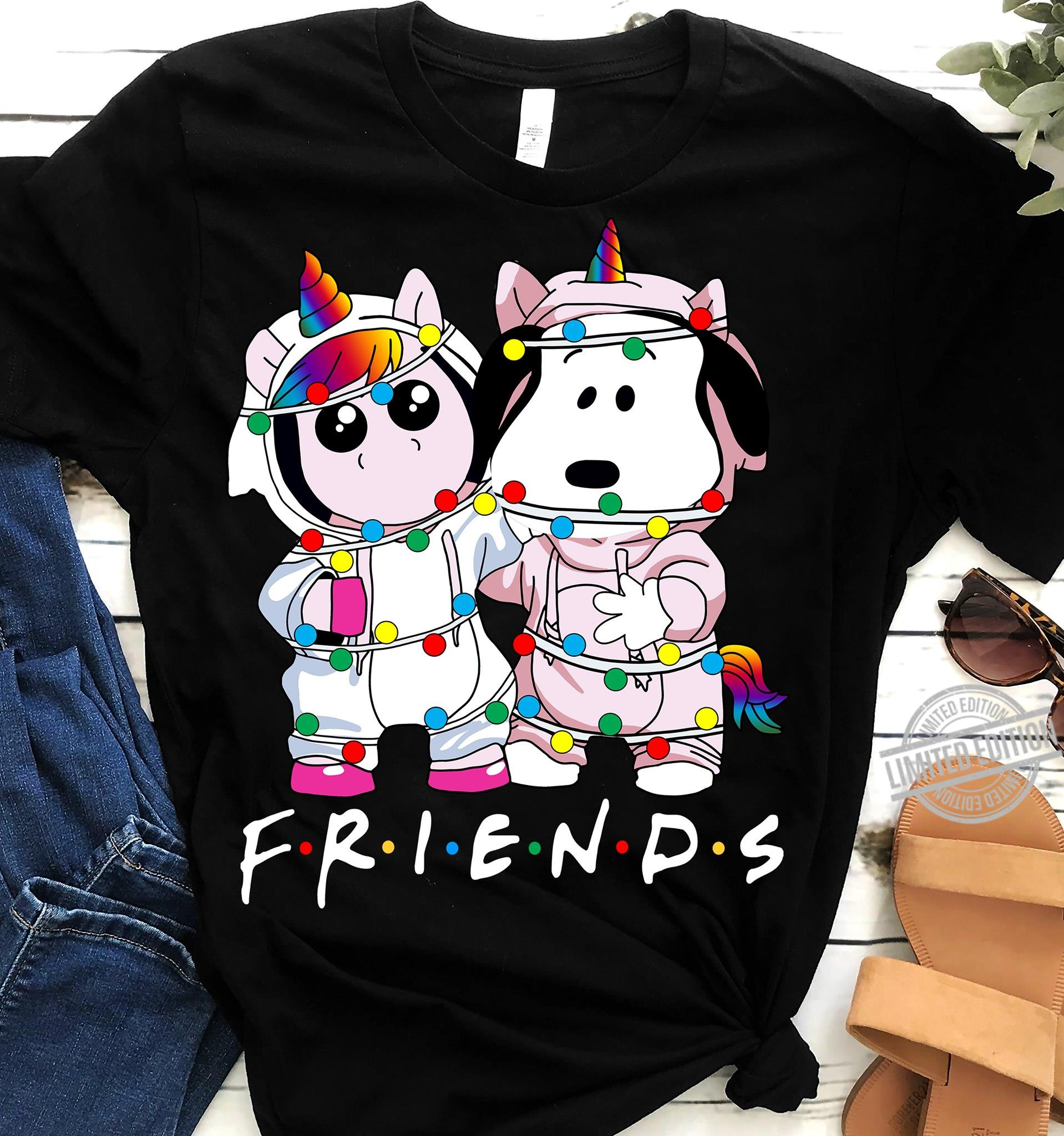 Baby Snoopy ANd Baby Unicorn Is Friends Shirt