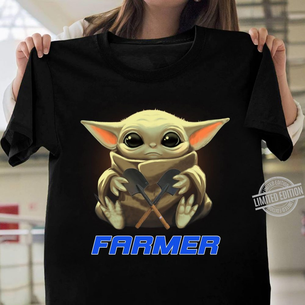 Baby Yoda And Farmer Shirt
