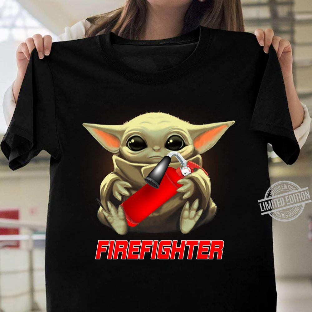 Baby Yoda And Firefighter Shirt