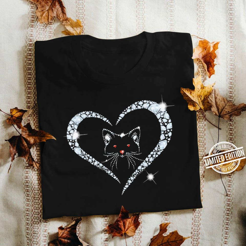 Cat in heart diamond Shirt
