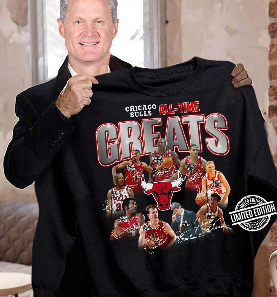 Chicago Bulls all-time Greats signatures Shirt