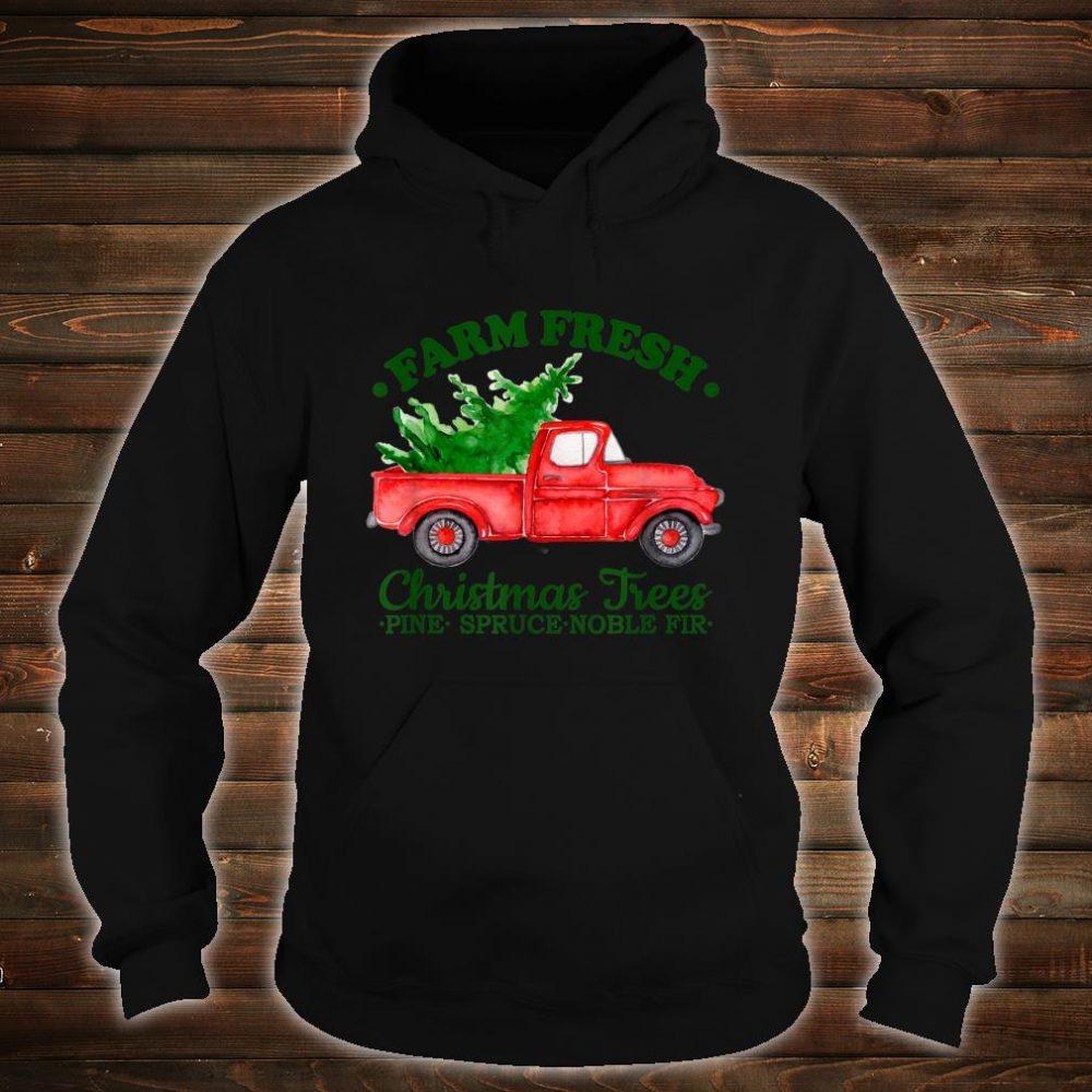 Farm Fresh Christmas Trees Watercolor Vintage Red Truck Shirt hoodie