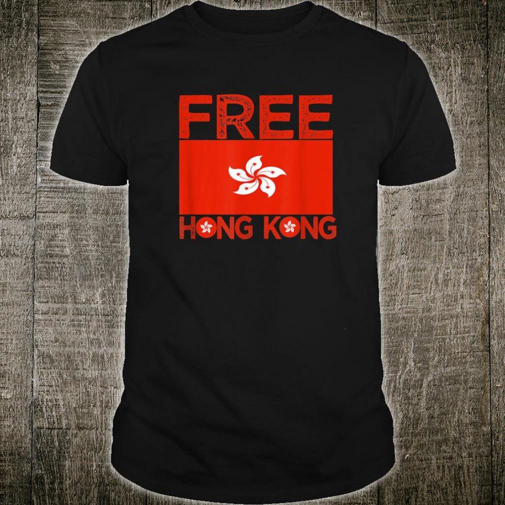 Free Hong Kong -Hong Kong Flag Shirt