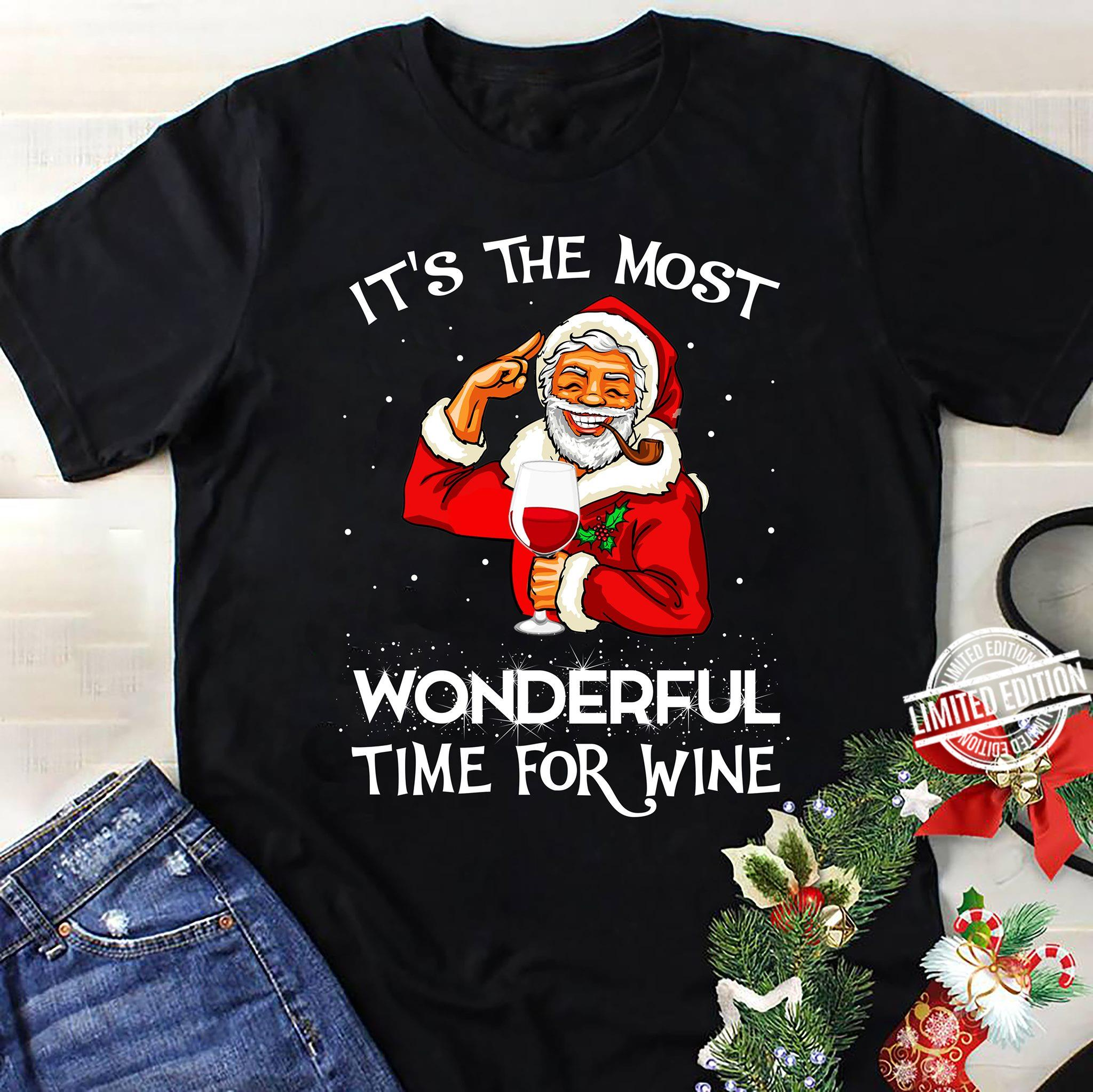 It's The Most Wonderful Time For Wine Shirt