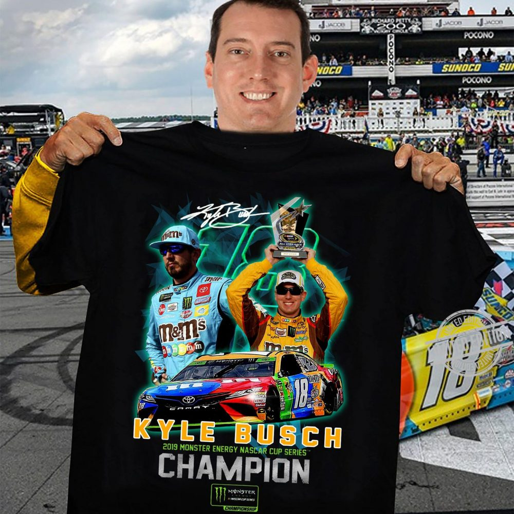 Kyle Busch 2019 Minster Enegy Nascar Cup Series Champion Shirt