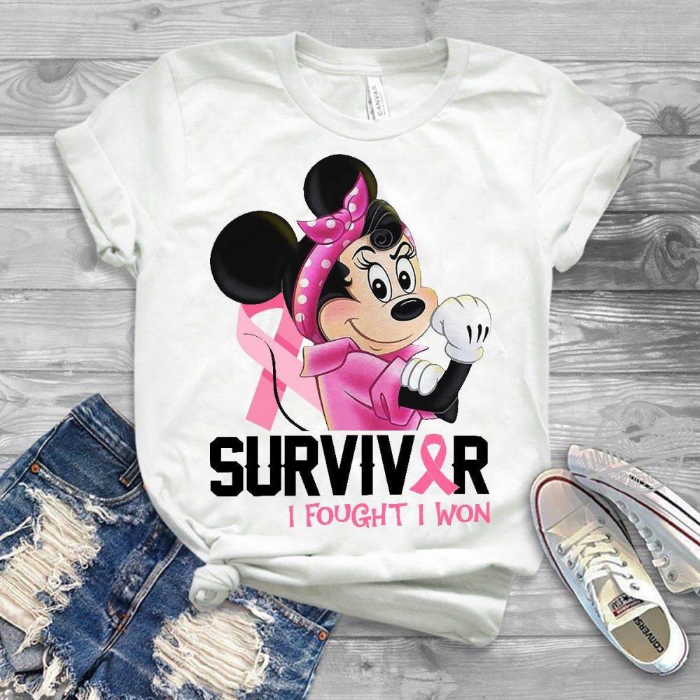 Mickey Surviver I Fought I Won Shirt