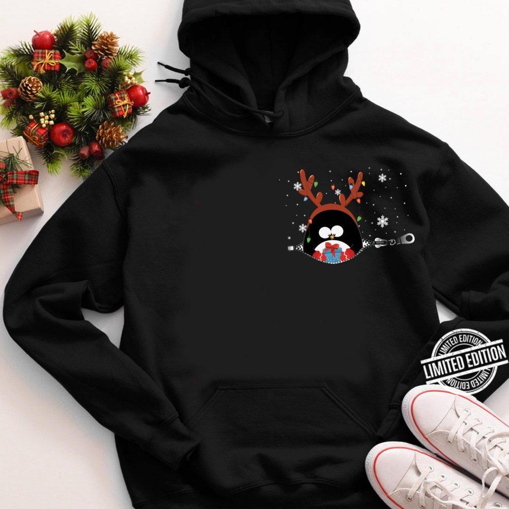 Penguin reindeer zip christmas Shirt