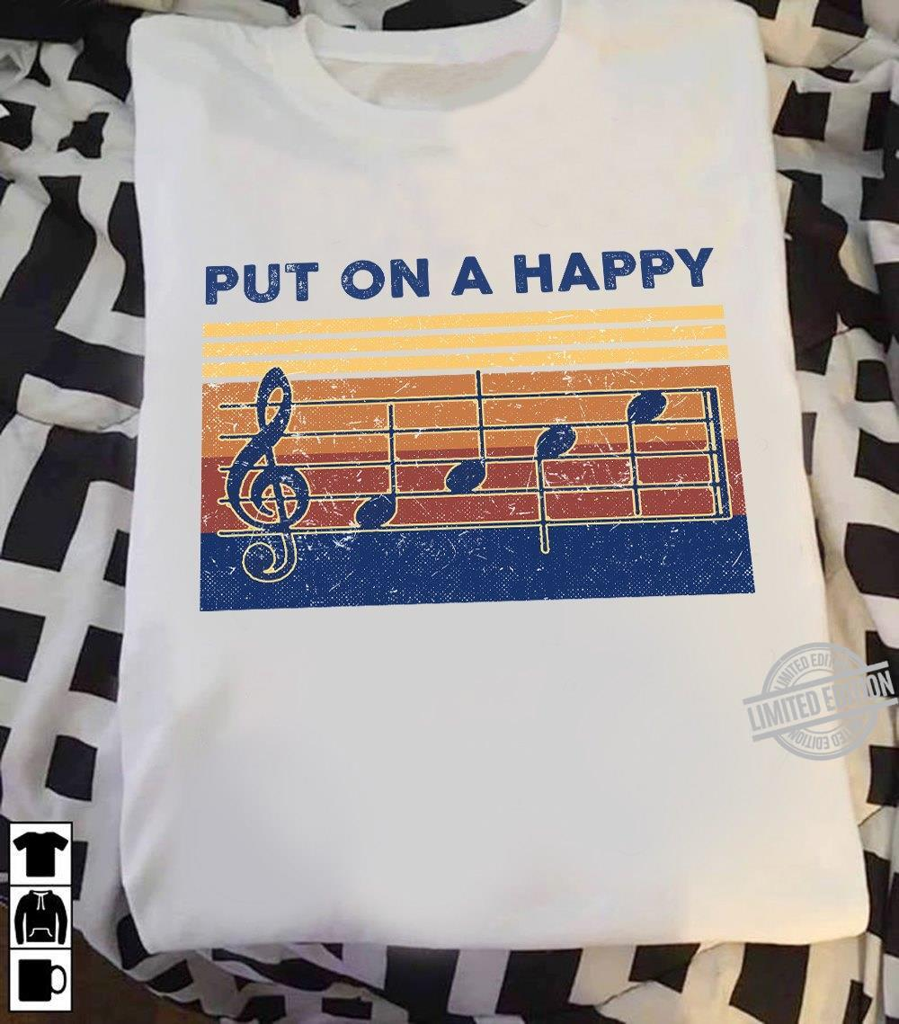 Put On A Happy Music Note Shirt