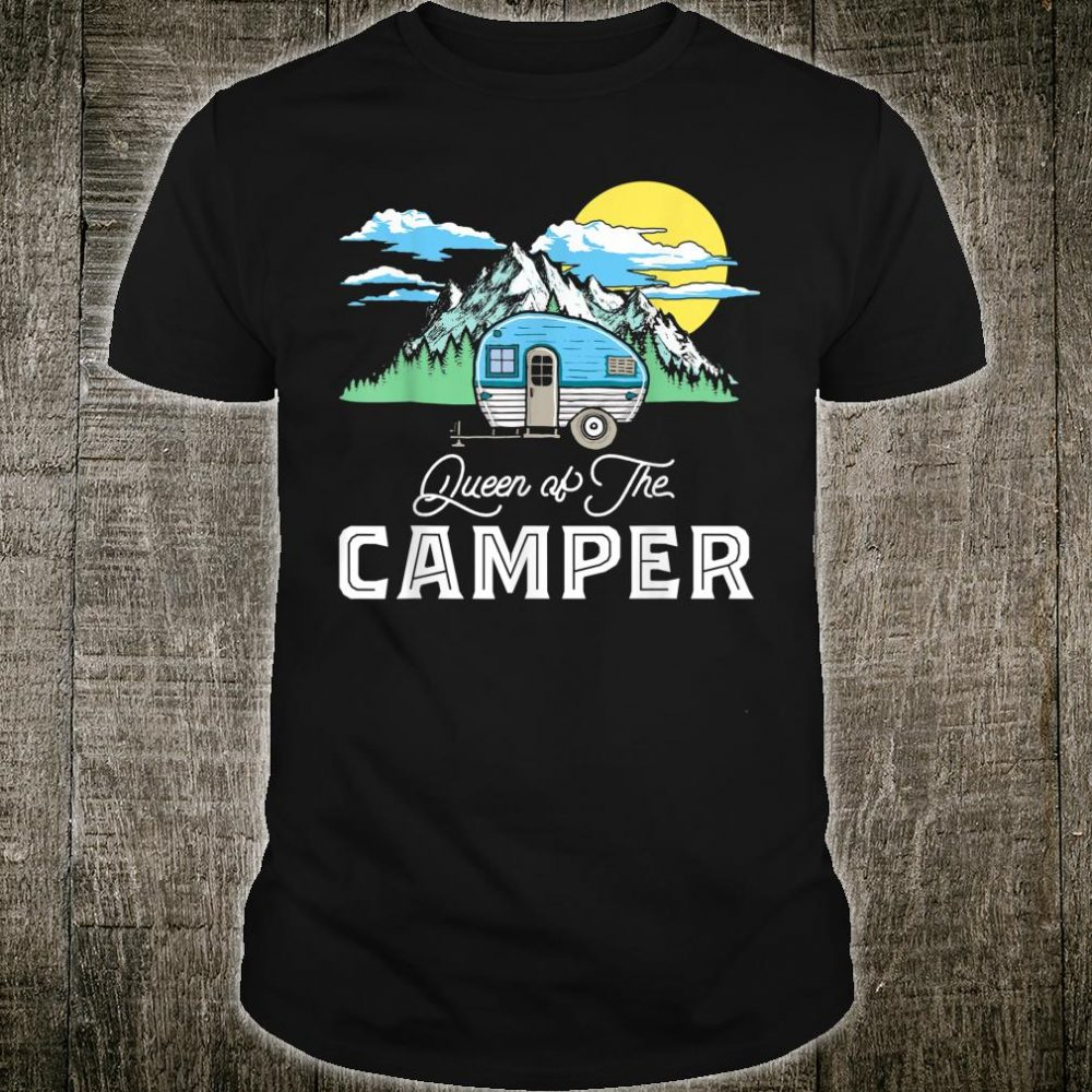 Queen of the Camper Retro RV Camping Shirt