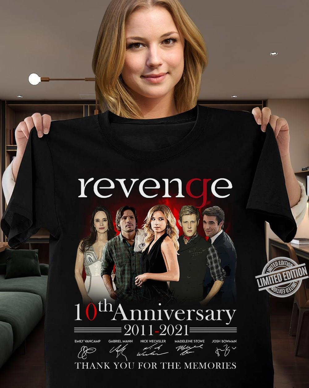 Revenge 10th Anniversary Thank You For The Memories 2011-2021 Shirt