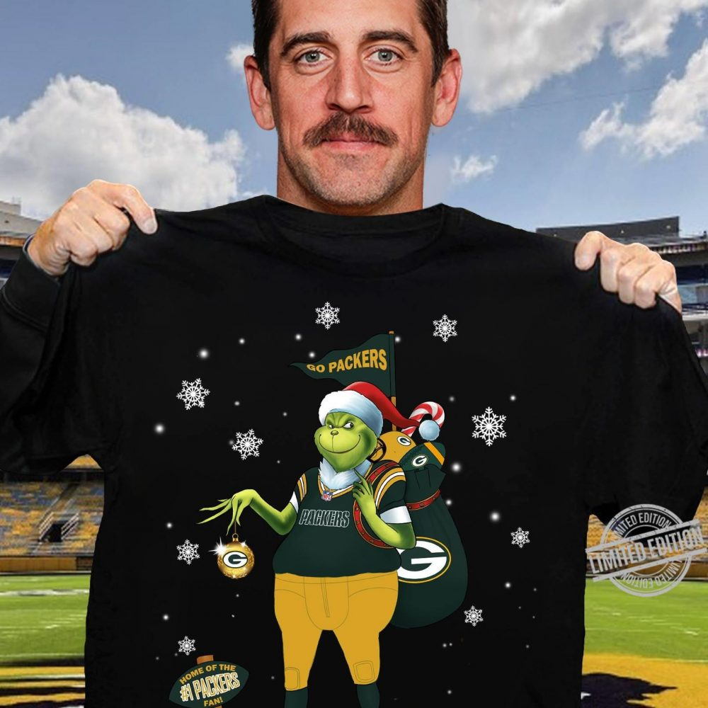 Santa Grinch Go Packers Home Of The #1 Packers Fan Shirt