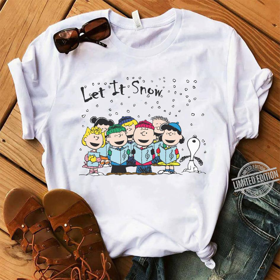 Snoopy Let It Snow Shirt