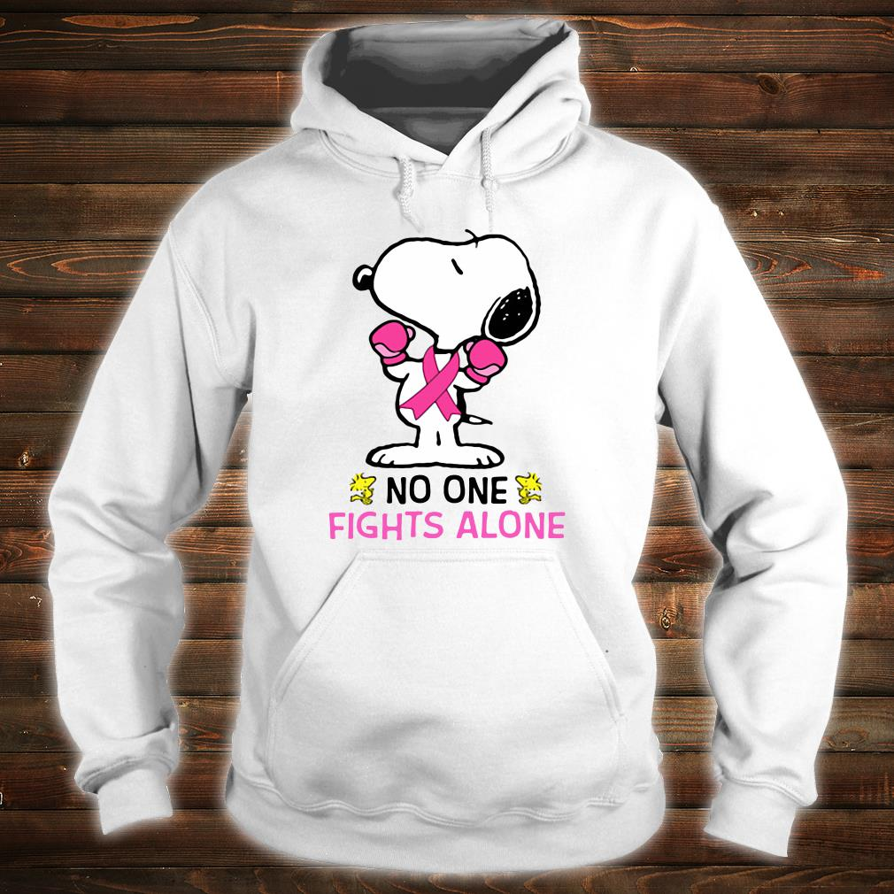 Snoopy no one fights alone breast cancer shirt hoodie