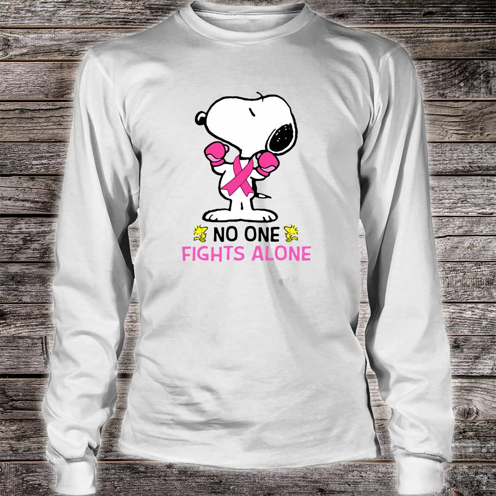 Snoopy no one fights alone breast cancer shirt long sleeved