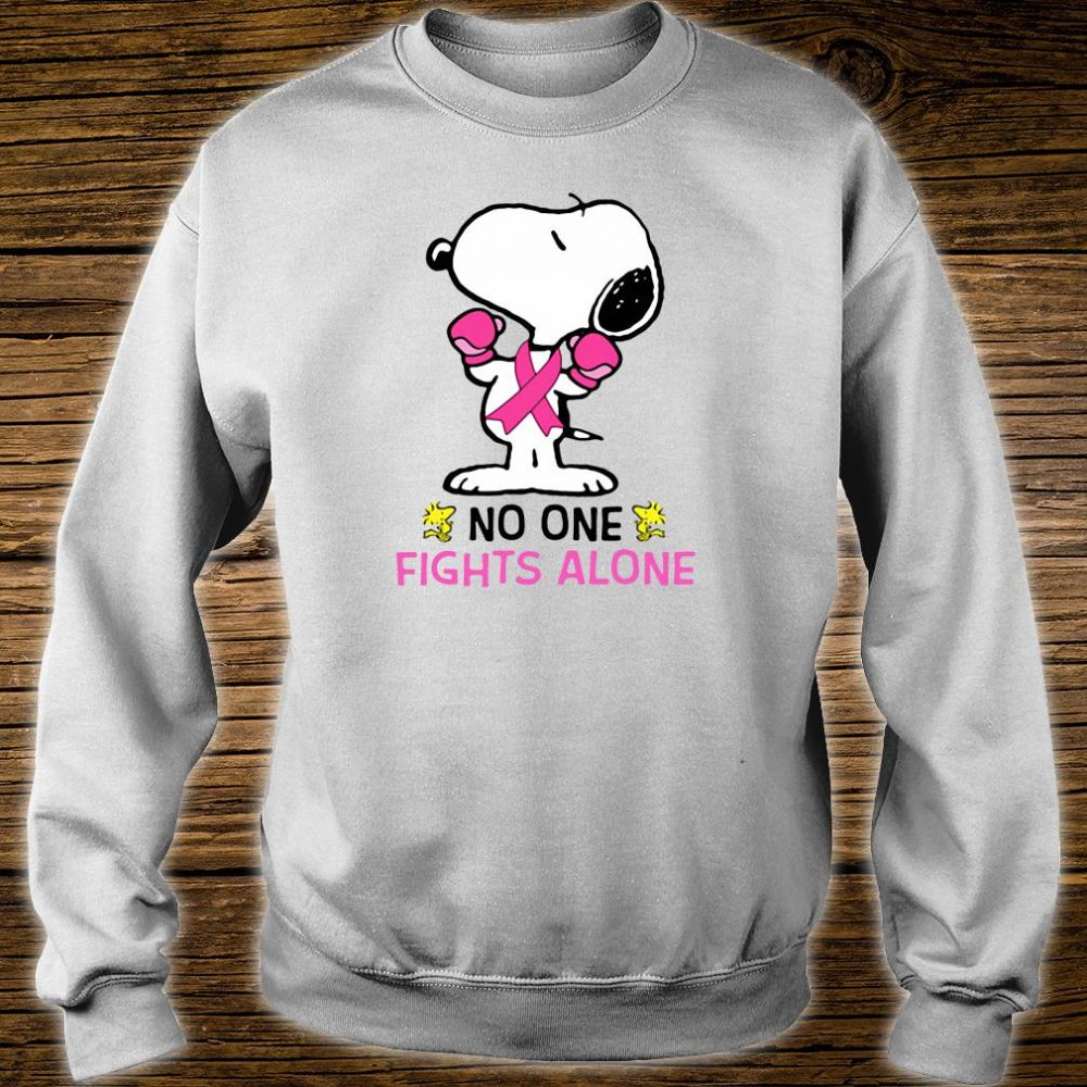 Snoopy no one fights alone breast cancer shirt sweater
