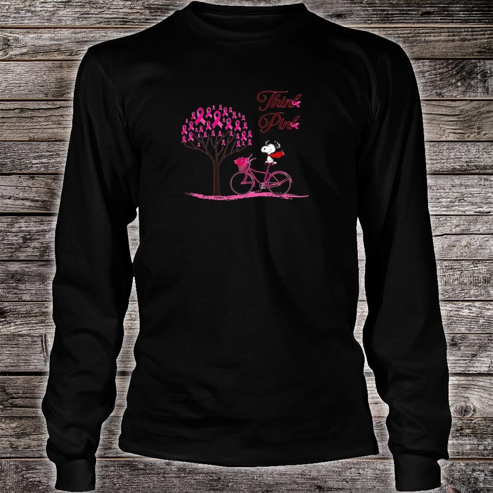 Snoopy think pink shirt Long sleeved
