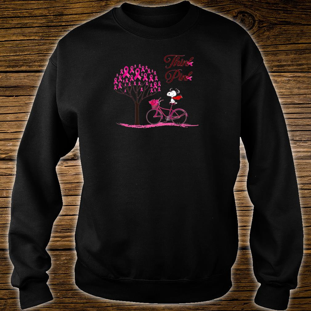 Snoopy think pink shirt sweater