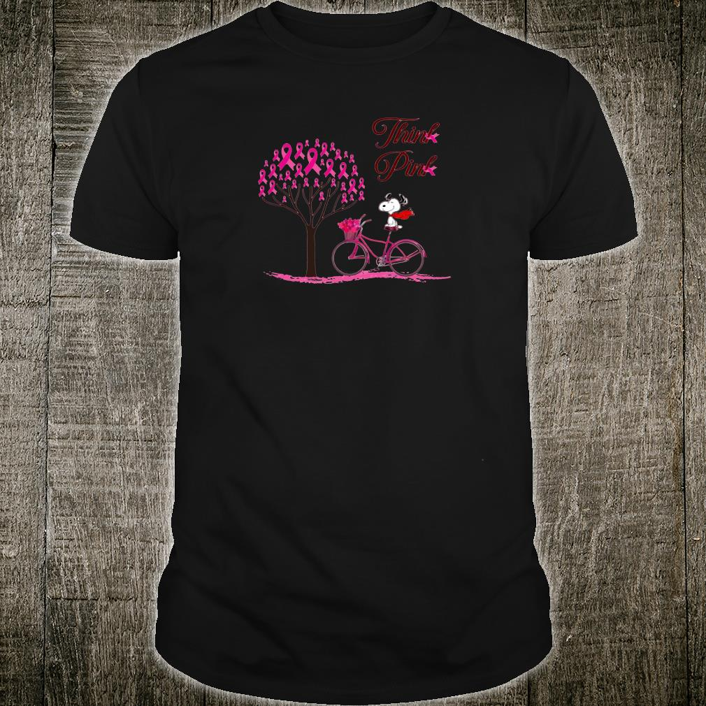 Snoopy think pink shirt