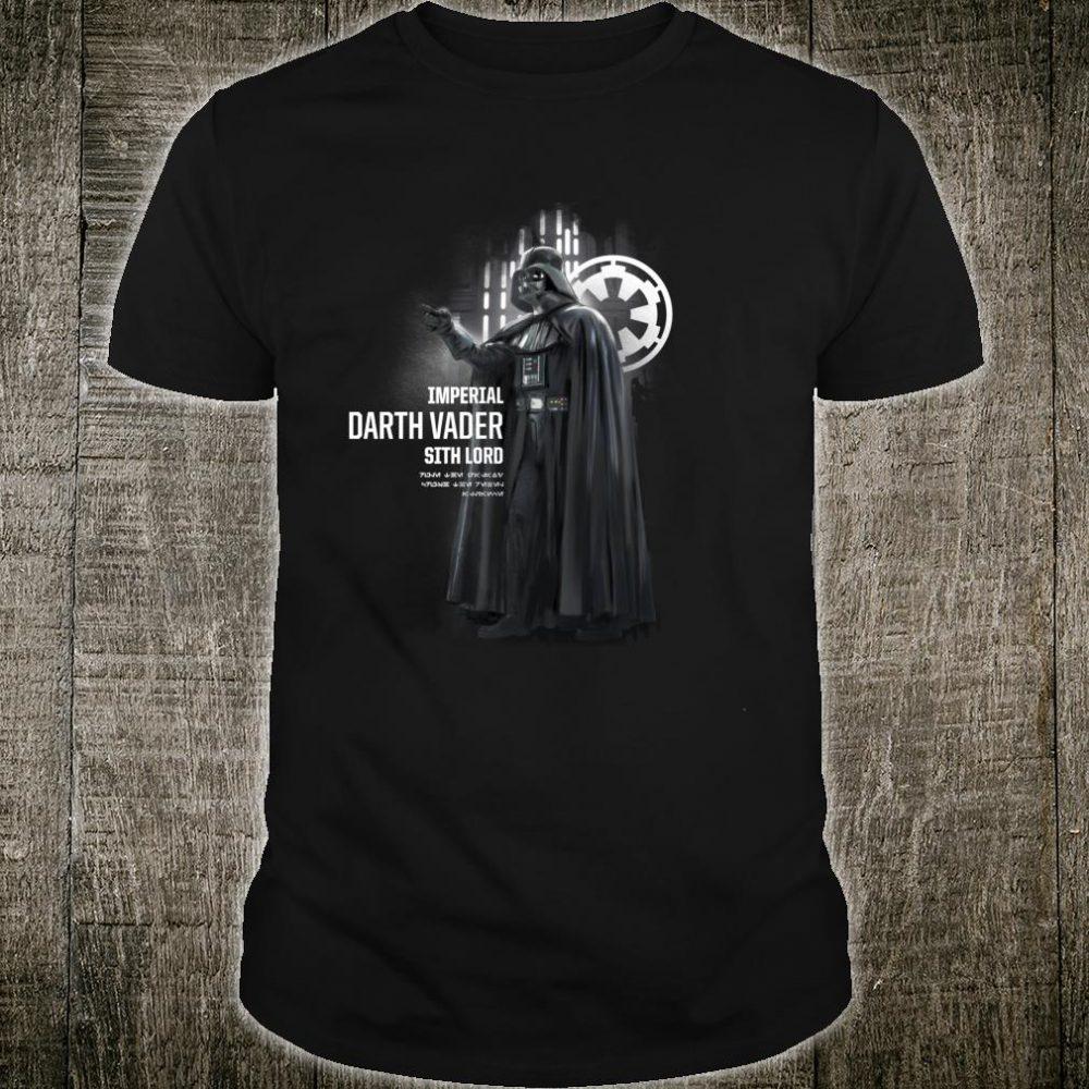 Star Wars Rogue One Presenting Darth Vader Shirt