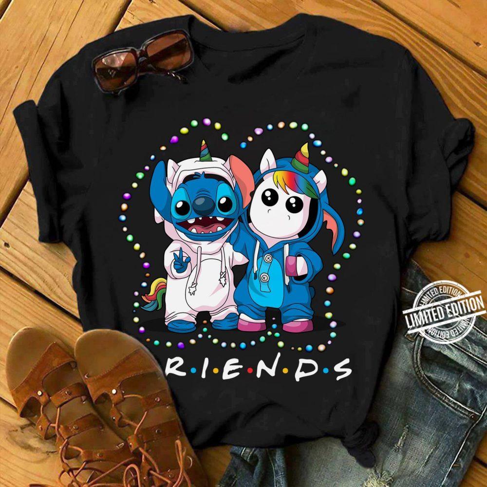 Stitch And Unicorn Friends Light Christmas Shirt