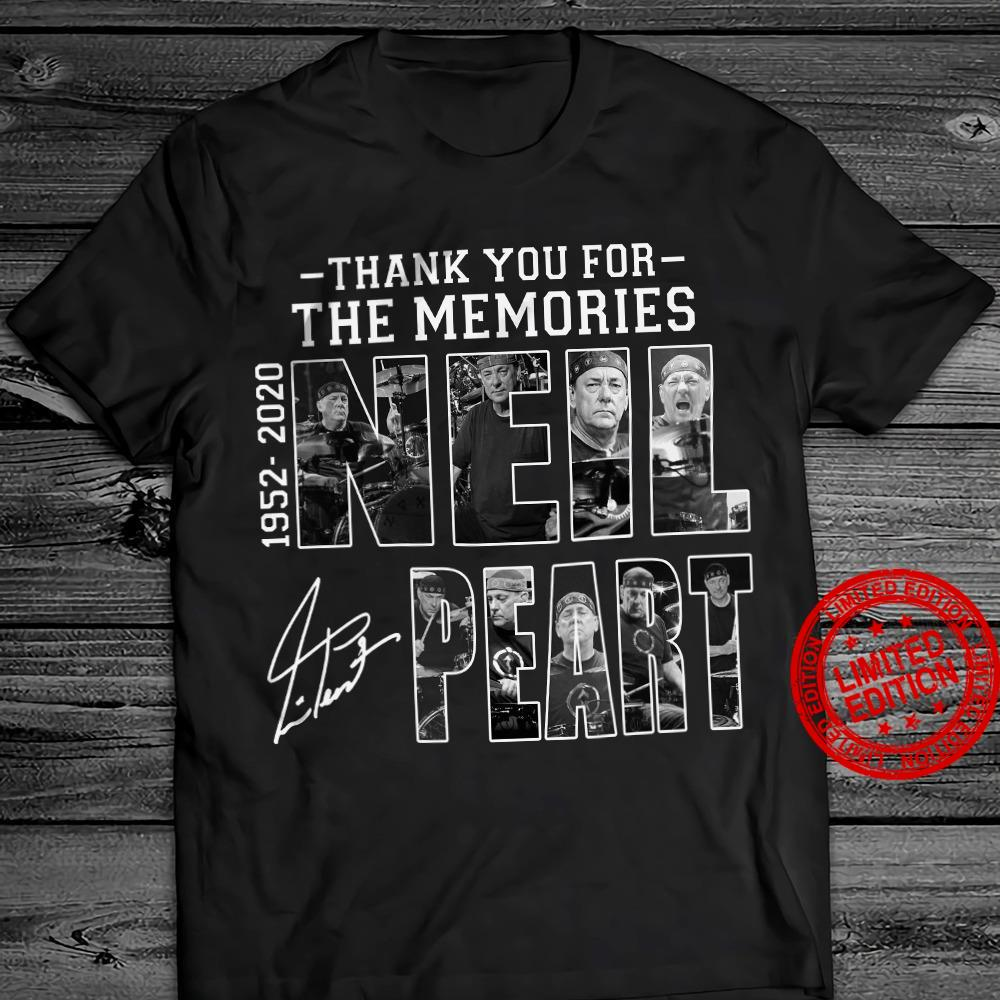 Thank You For The Memories 1952-2020 Neil Peart Shirt
