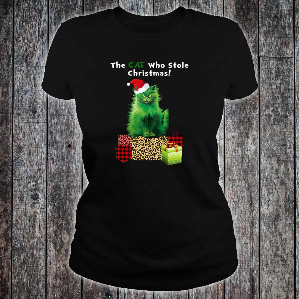 That cat who stole Christmas shirt ladies tee