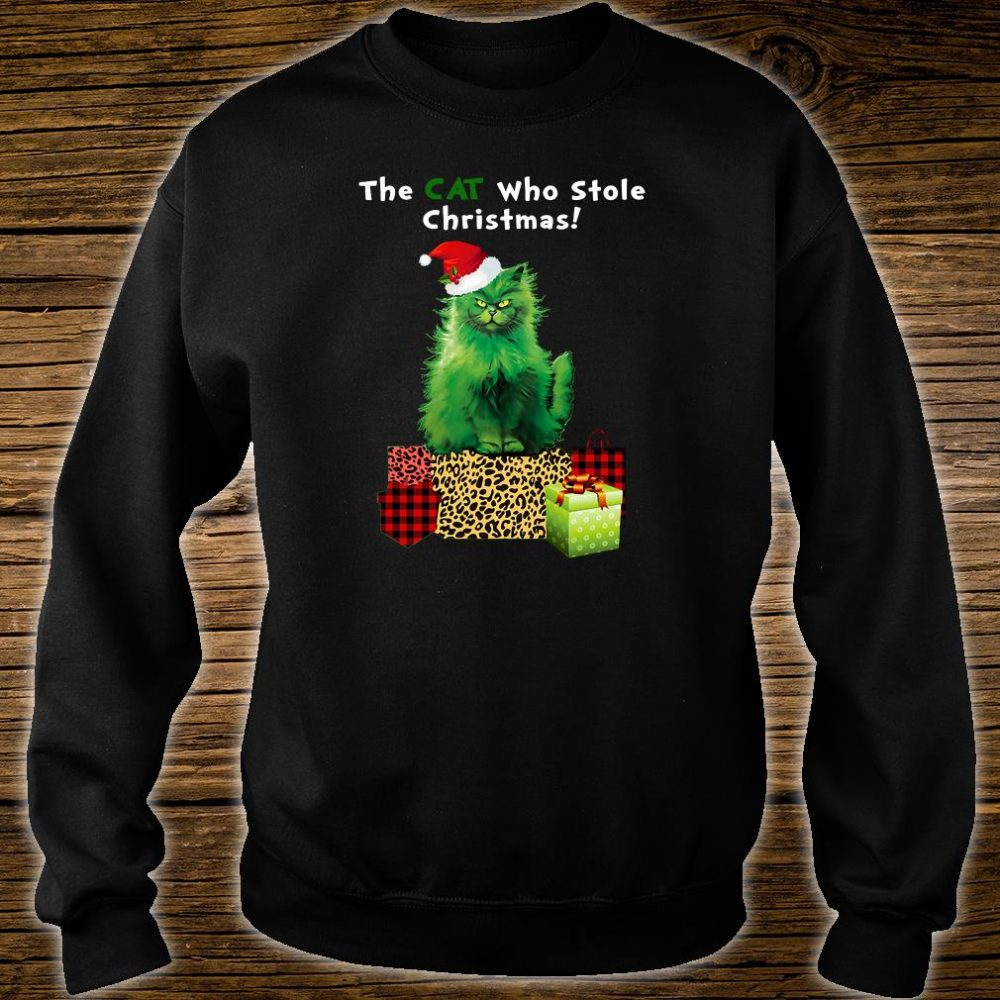 That cat who stole Christmas shirt sweater