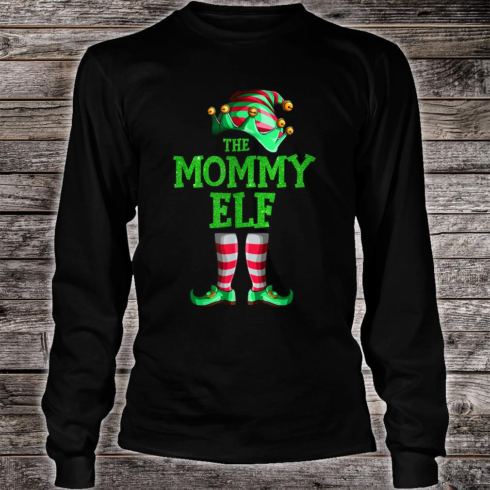 The Mommy Elf Family Matching Group Christmas Shirt long sleeved