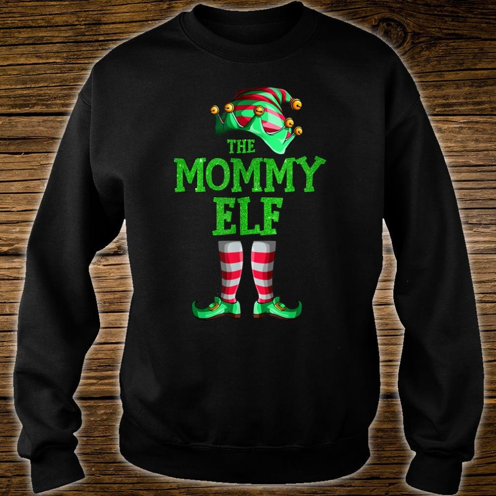 The Mommy Elf Family Matching Group Christmas Shirt sweater
