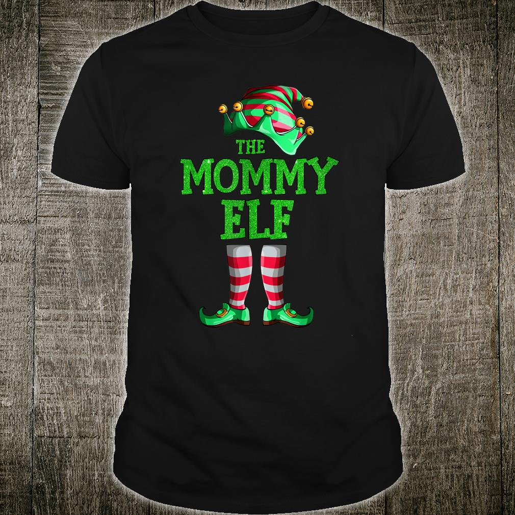 The Mommy Elf Family Matching Group Christmas Shirt