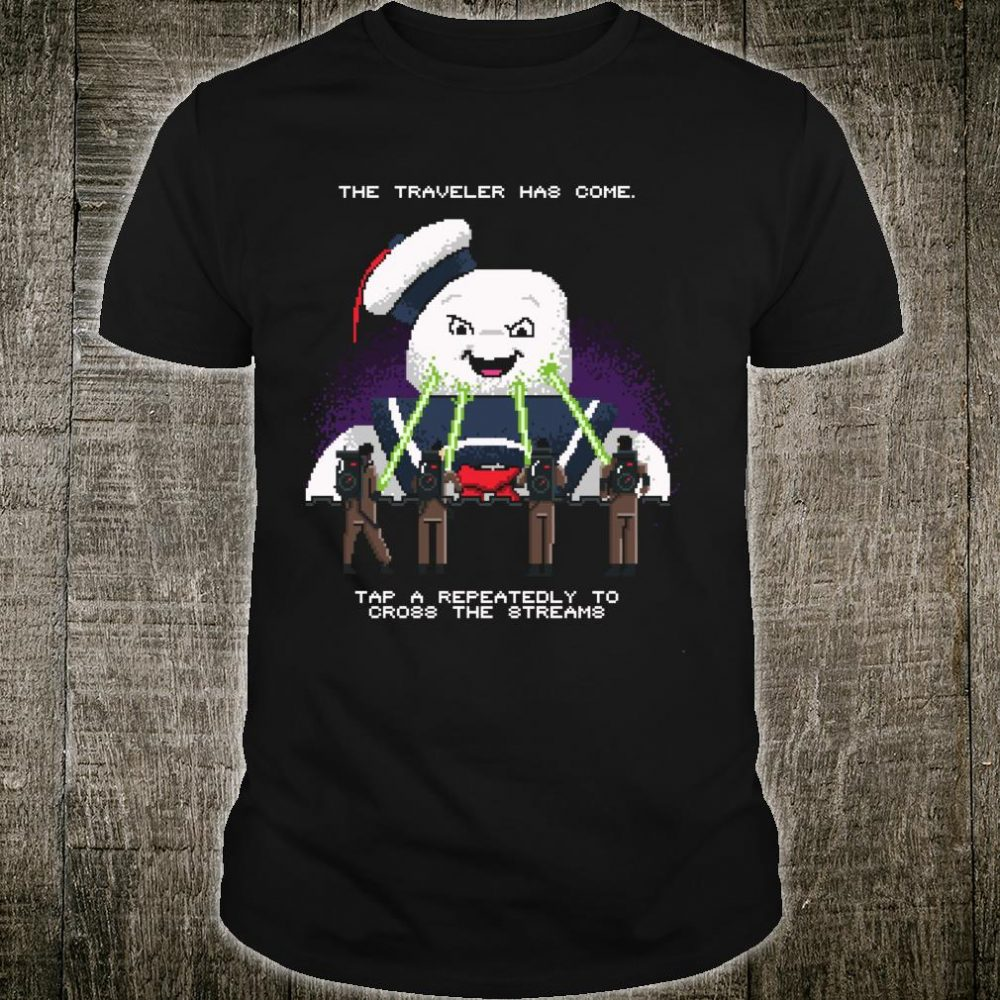 The traveler has come tap a repeatedly to cross the stream 8 shirt