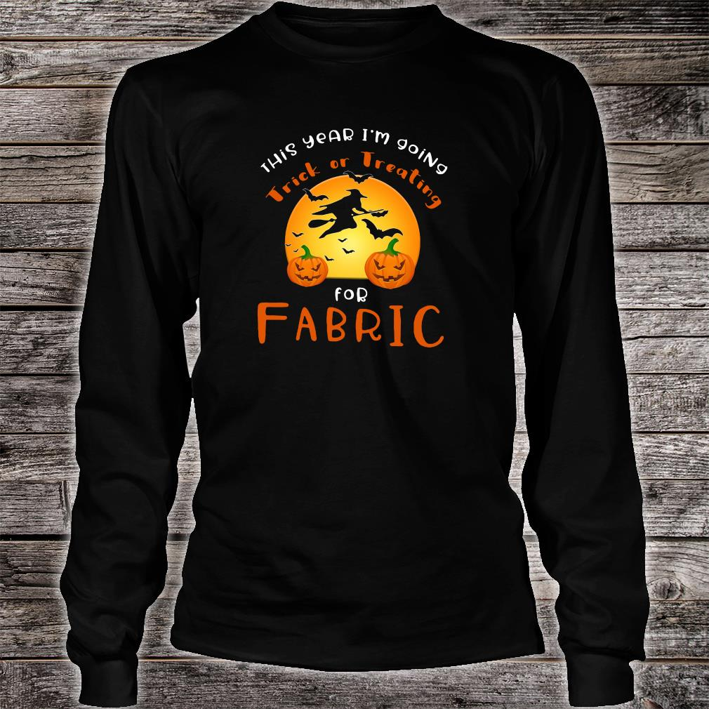 This year i'm going trick or treating for fabric shirt Long sleeved