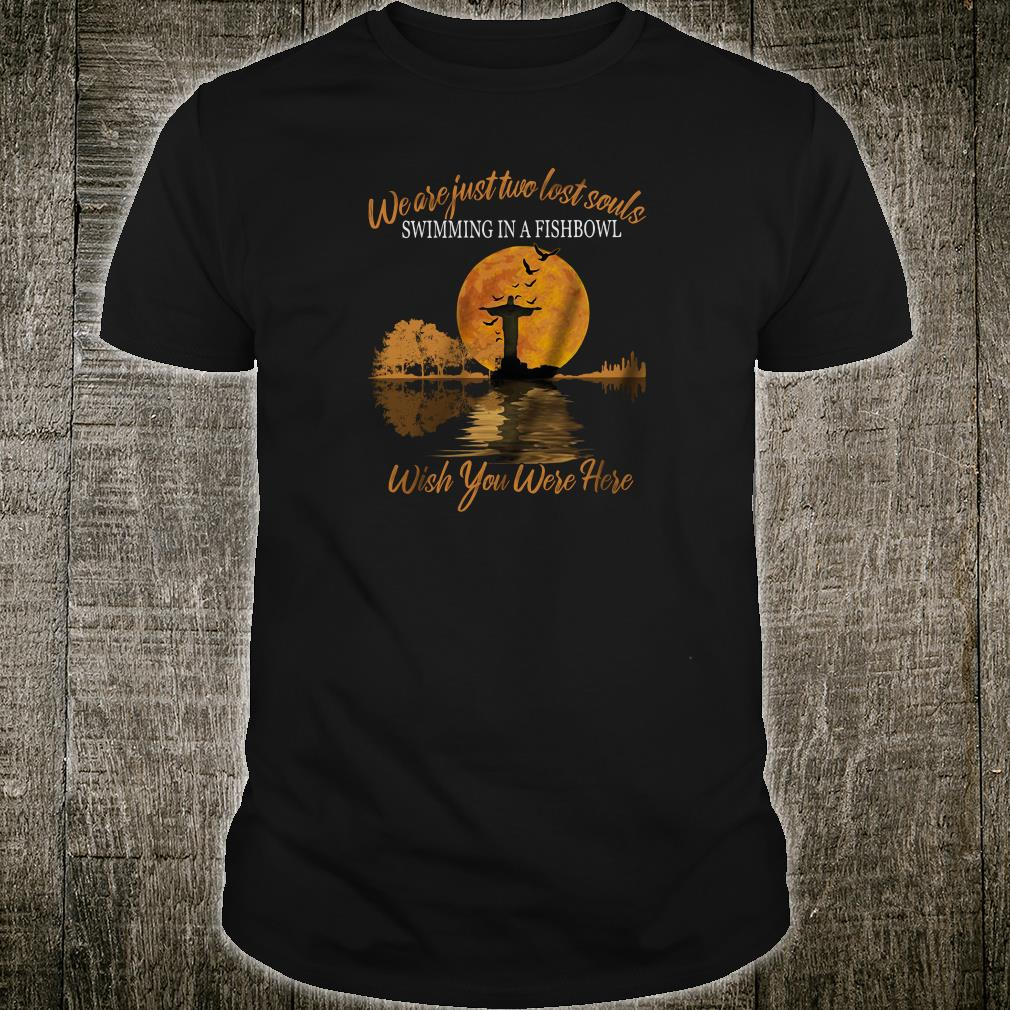 We are just two lost souls swimming in a fishbowl wish you were here shirt